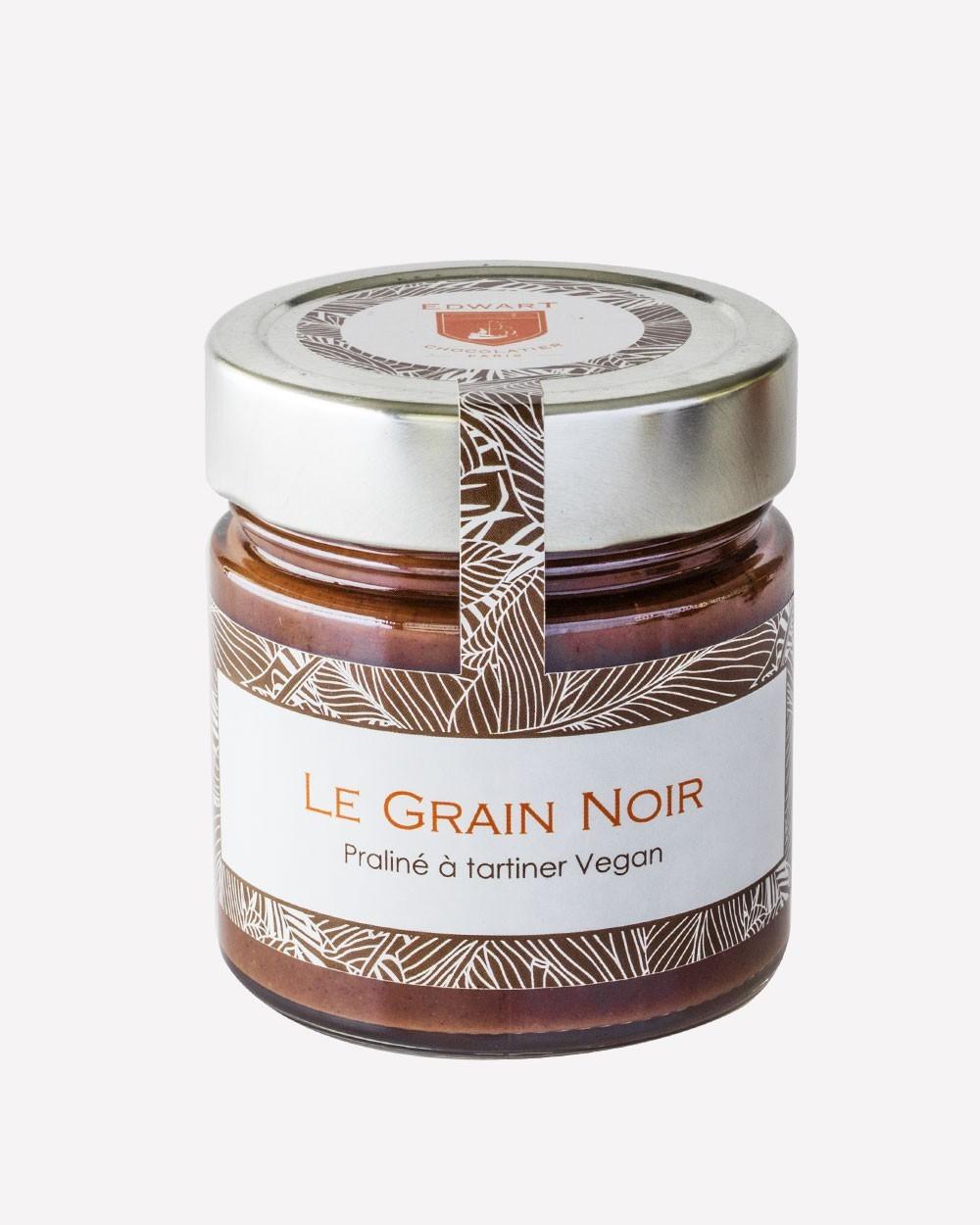 """Pot de praliné à tartiner  """"Le Grain Noir"""" - vegan 240g"""