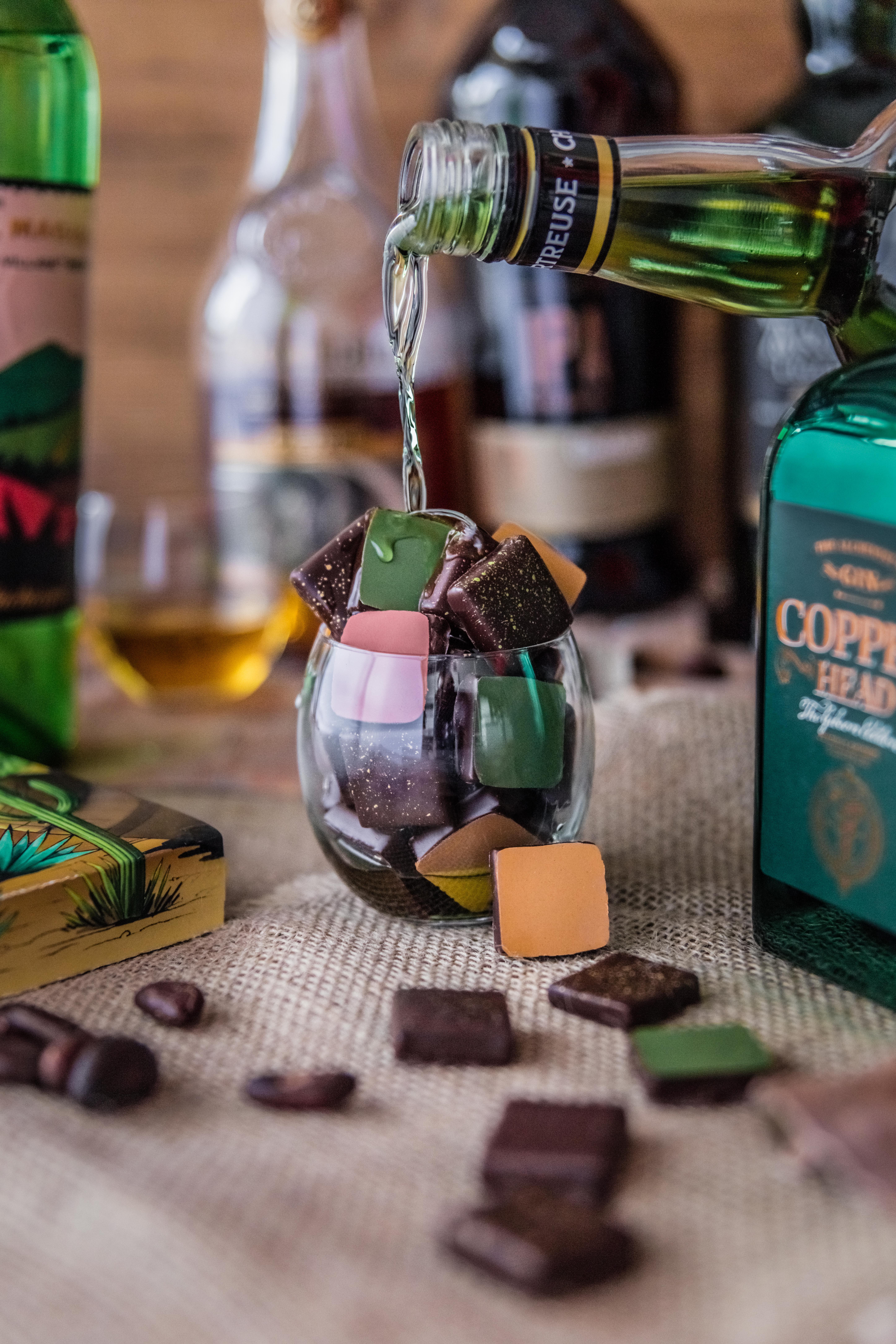 Spiritueux et chocolats
